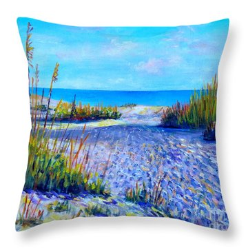 Longboat Key View Throw Pillow by Lou Ann Bagnall