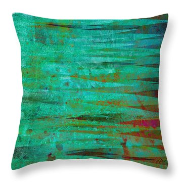 Longing - Abstract - Art Throw Pillow by Ann Powell