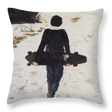 Longing For Spring Throw Pillow