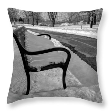 Throw Pillow featuring the photograph Longing For Spring by Michael Colgate