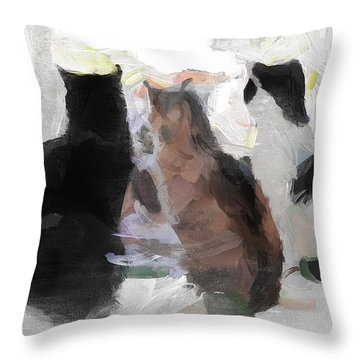 Longing Throw Pillow by Greg Collins