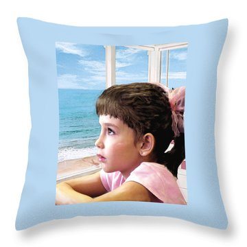 Longing Throw Pillow by Jane Schnetlage