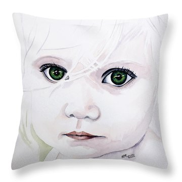 Longing Eyes Throw Pillow