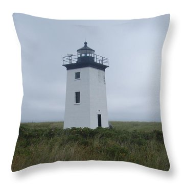Longpoint Lighthouse Throw Pillow