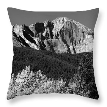 Longs Peak 14256 Ft Throw Pillow by James BO  Insogna