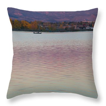 Longs Peak 2 Throw Pillow by Aaron Spong