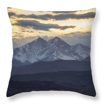Longs Peak 3 Throw Pillow by Aaron Spong