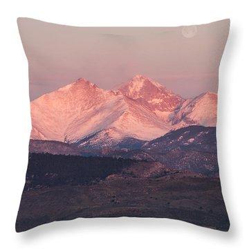 Longs Peak 4 Throw Pillow by Aaron Spong