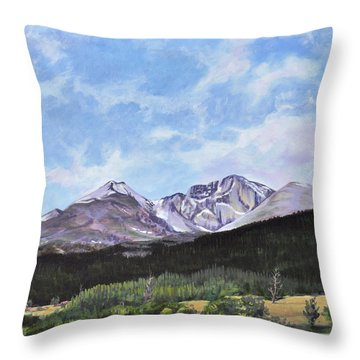 Longs Peak Vista Throw Pillow