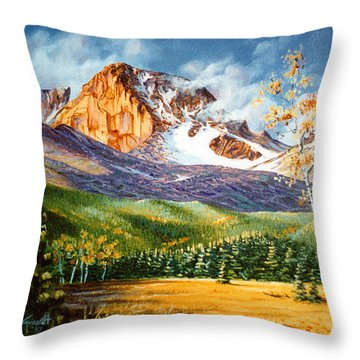 Longs Shadows Throw Pillow