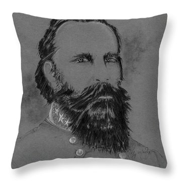 Longstreet's Reluctance Throw Pillow