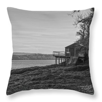 Lonley Boat House Throw Pillow