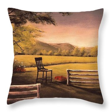 Lonsesome Chair Throw Pillow
