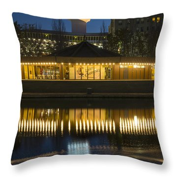 Looff Carrousel Reflection Throw Pillow