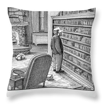 Look Alive, Proust, You're Next Throw Pillow