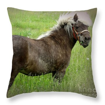 Look At My Hair Throw Pillow