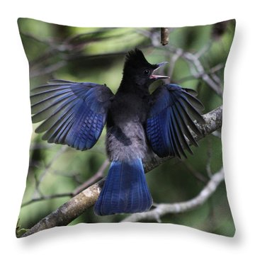 Look At My Wings Throw Pillow by Alyce Taylor