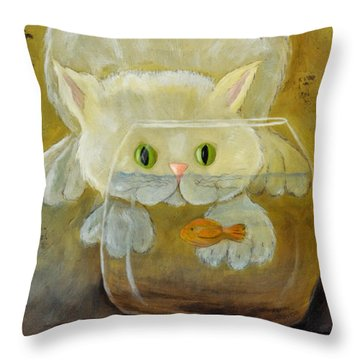 Look But Don't Touch Throw Pillow by Kenny Francis