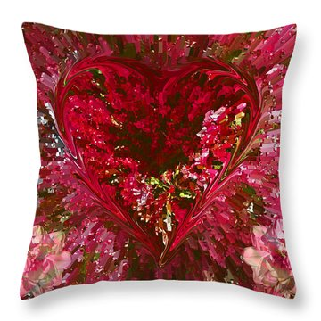 Look Deep Into My Heart Throw Pillow