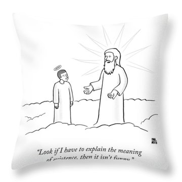 Look If I Have To Explain The Meaning Throw Pillow