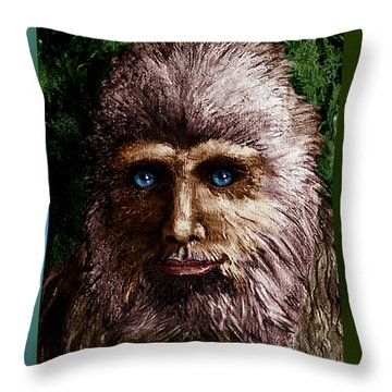 Look Into My Eyes... Throw Pillow