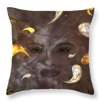 Look Into My Eyes Throw Pillow by Louis Ferreira