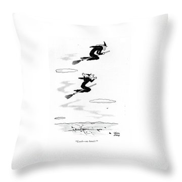 Look - No Hands! Throw Pillow