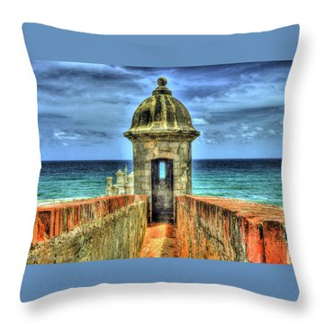 Spanish Fort Throw Pillows