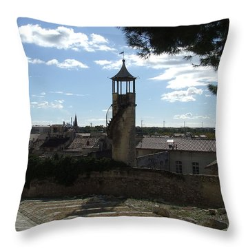 Look Out Tower On The Approach To Beaucaire Castle Throw Pillow