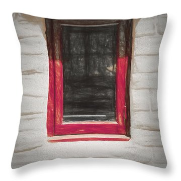 Throw Pillow featuring the photograph Look Thru Any Window  ... by Chuck Caramella