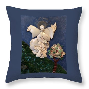 Look Unto The Hills Throw Pillow