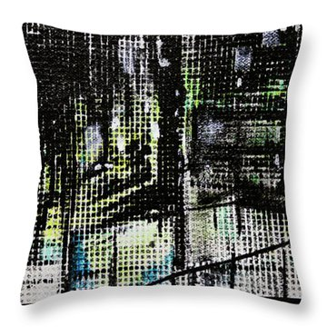 Look Up Manhattan At Night Throw Pillow by Jack Diamond