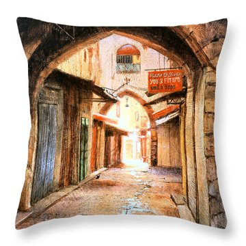 Look Who Is Coming Throw Pillow