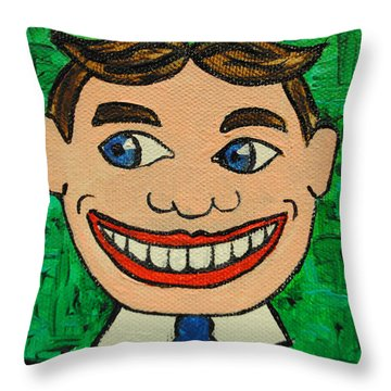 Lookin Left Tillie Throw Pillow by Patricia Arroyo