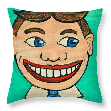 Lookin Right Tillie Throw Pillow by Patricia Arroyo