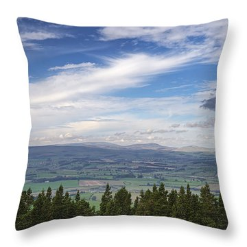 Looking Across To The Cheviots Throw Pillow