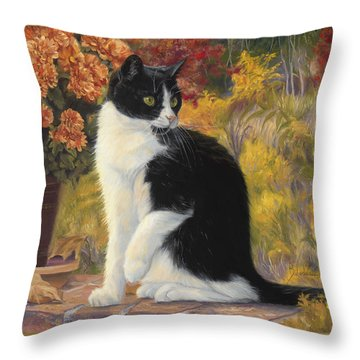 Looking Afar Throw Pillow by Lucie Bilodeau