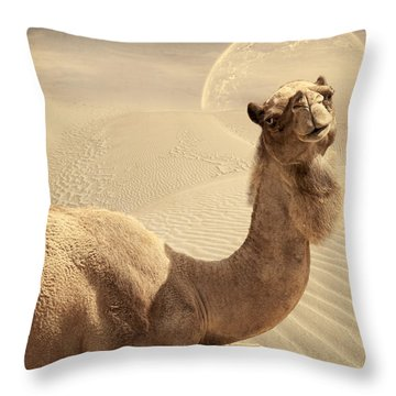 Looking At Ya Throw Pillow by Lourry Legarde