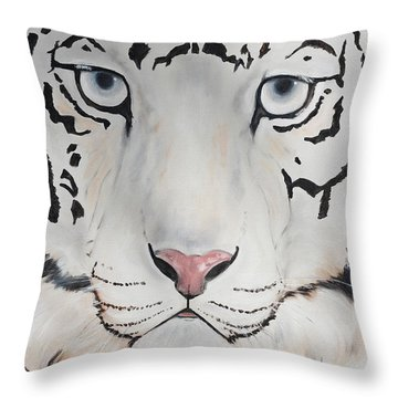 Looking At You Throw Pillow by Patricia Olson