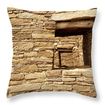 Looking Back In Time Throw Pillow by Melany Sarafis