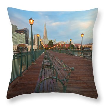 Looking Back Throw Pillow by Jonathan Nguyen