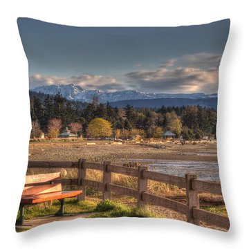 Looking Back Throw Pillow by Randy Hall