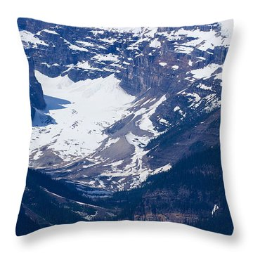 Looking Down At Lake Louise #2 Throw Pillow