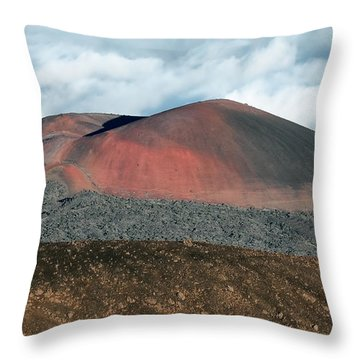 Throw Pillow featuring the photograph Looking Down by Jim Thompson