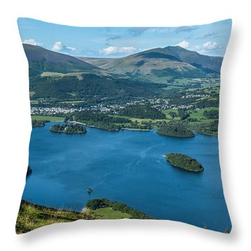 Looking Down On Keswick Throw Pillow