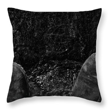 Looking Down On Space Throw Pillow by Karol Livote