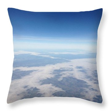 Looking Down On The Earth Throw Pillow by Daniel Precht