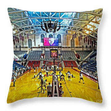 Looking Down The Length Of The Court Throw Pillow