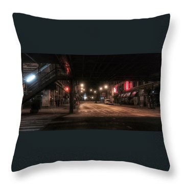 Looking East From Wabash Throw Pillow