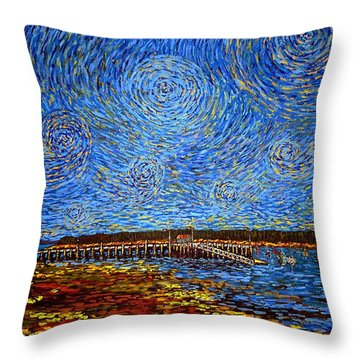 Looking East - St Andrews Wharf 2013 Throw Pillow